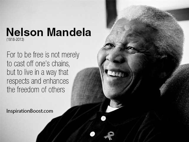 Nelson Mandela make others free