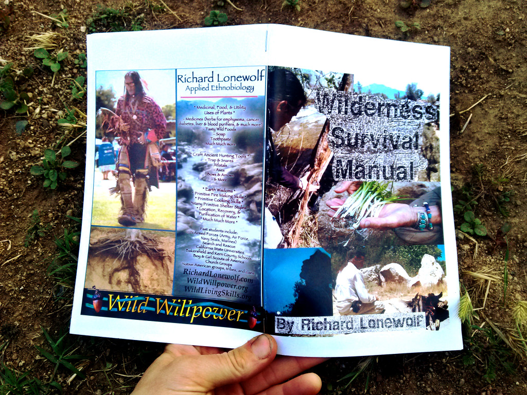 Wilderness Survival Manual ad cover pages