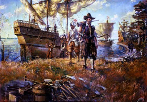 Colonists Landing At Jamestown