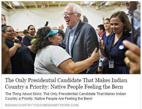 Bernie Sanders Indian Country