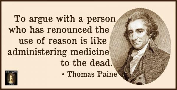 Thomas Paine medicine to the dead